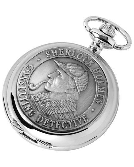 'Sherlock Holmes' Quartz Pocket Watch with Chain